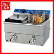 【广州富祺】DF-12L-2台式双缸双筛电炸炉 台式电炸炉 炸炉特价卖 热销中