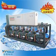 60P冷库制冷机组 冷库风冷双级并联机组 比泽尔双级并联机组